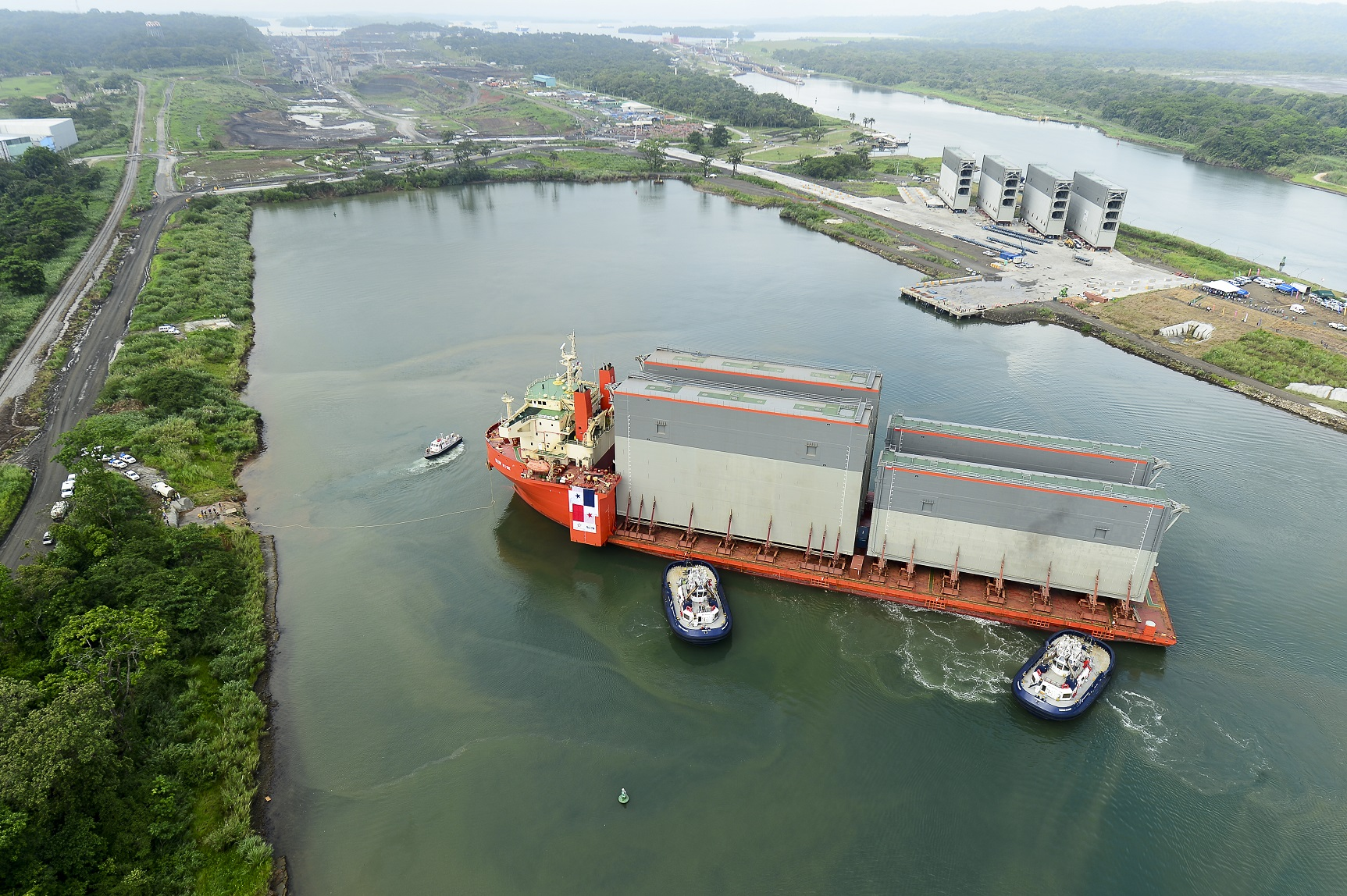 Canal De Panama: Second Shipment Of New Gates Arrive At The Panama Canal